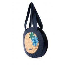 Bolso ovalado azul Nora