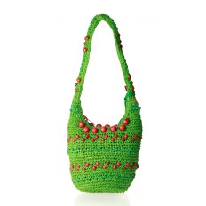 Bolso verde bandolera bolas de Agatha Ruiz de la Prada